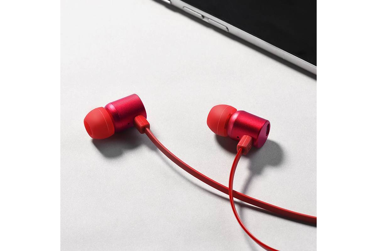 Гарнитура HOCO M33 Full harmony wire control earphones with microphone 3.5м красный