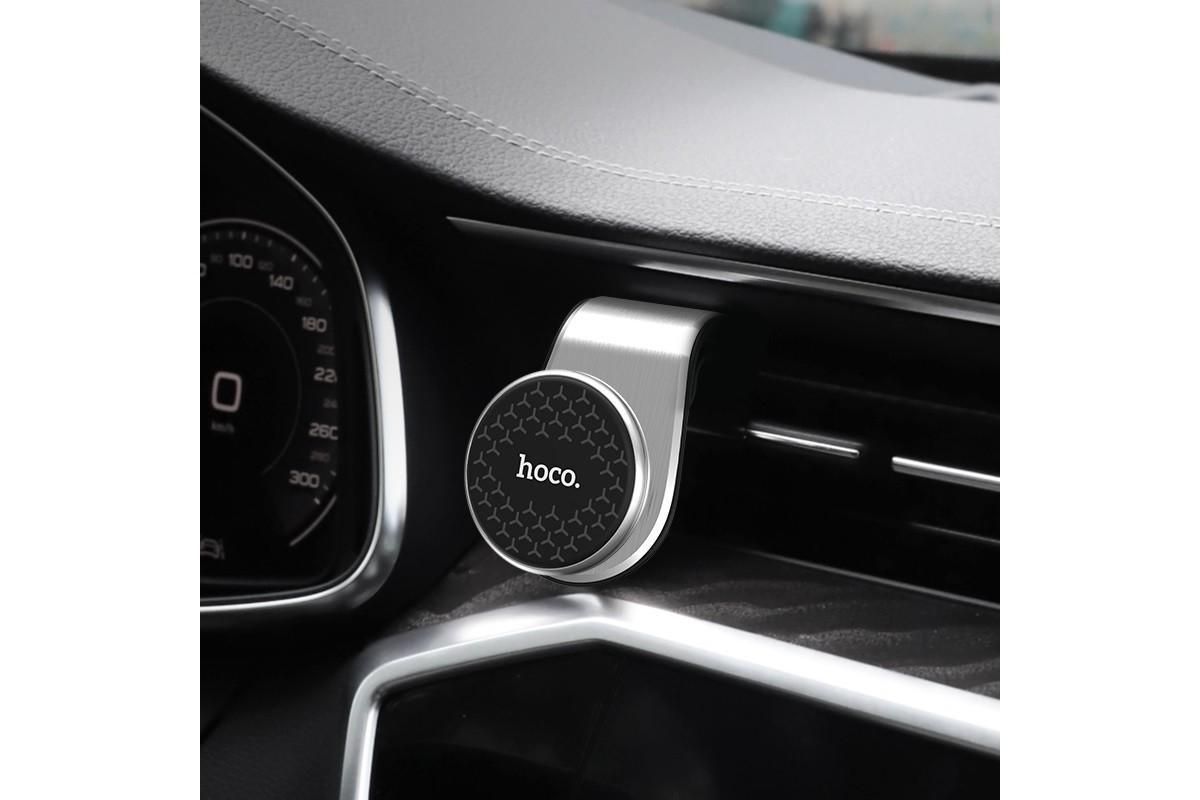 Держатель авто HOCO CA59 Victory air outlet magnetic in-car holder серебристый