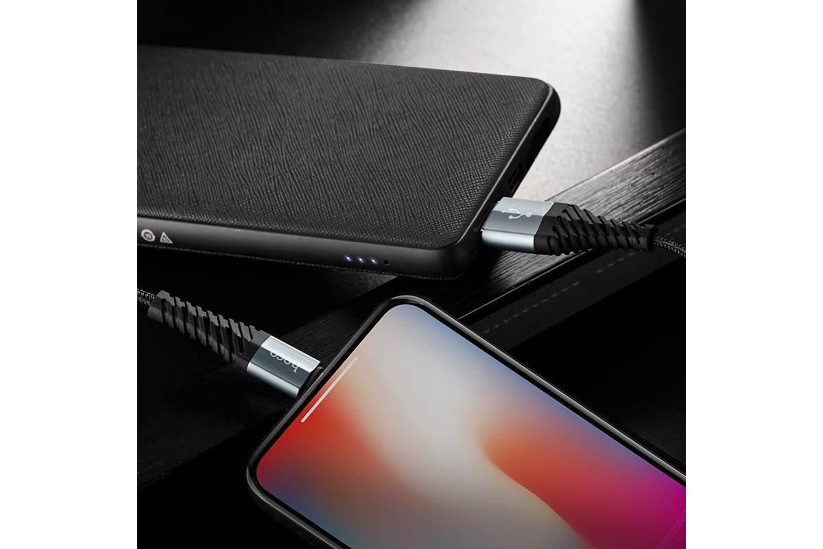 Кабель для iPhone HOCO X38 Cool Charging data cable for Lightning 1м черный