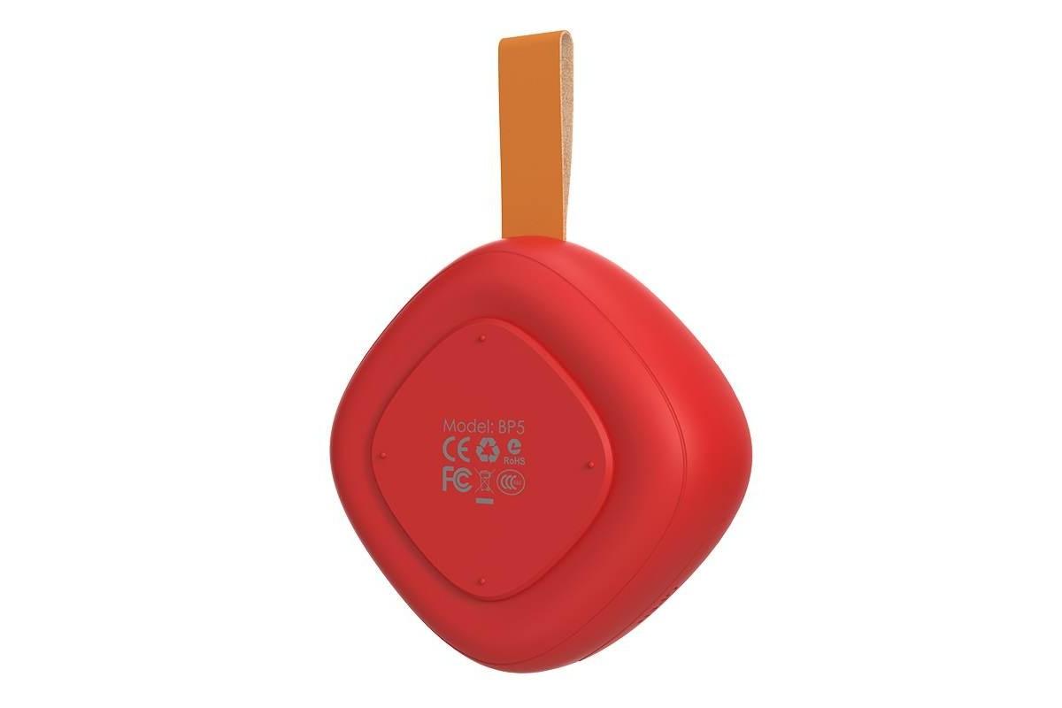 Портативная беспроводная акустика BOROFONE BP5  цвет красный
