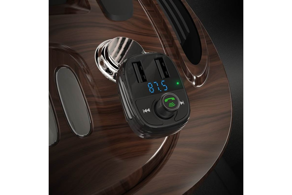 USB MP3 плеер +FM трансмиттер с диспл.BOROFONE BC16 MiniRock In-car Wireless FM Transmitter