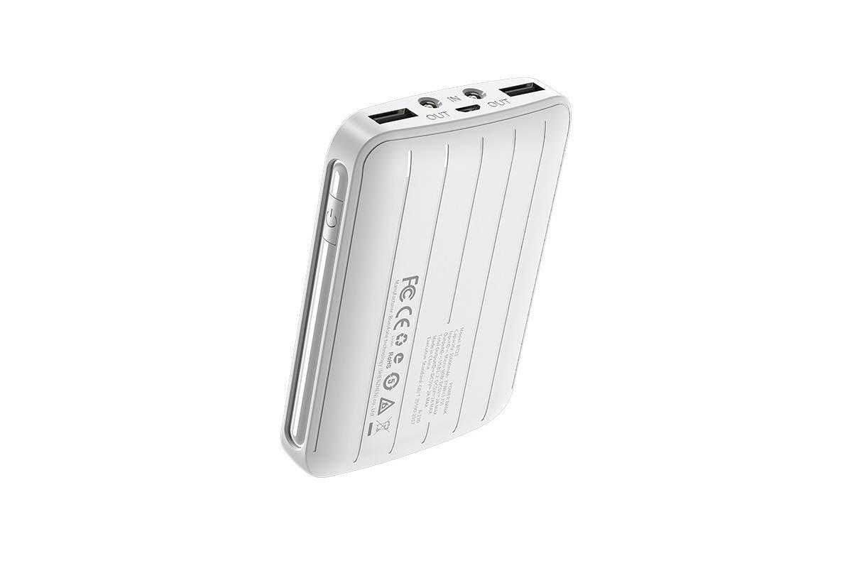 Универсальный дополнительный аккумулятор BOROFONE BT21 Universal energy  Power Bank 10000 mAh  белый