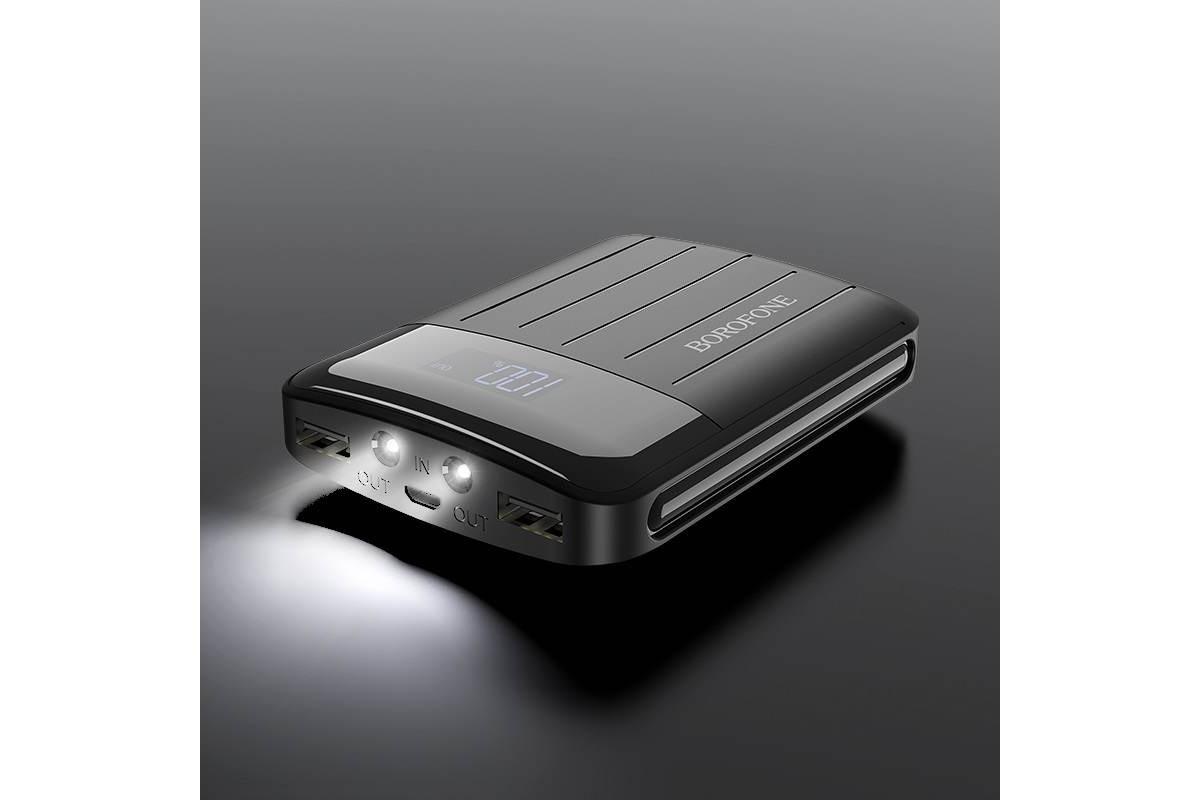 Универсальный дополнительный аккумулятор BOROFONE BT21 Universal energy  Power Bank 10000 mAh  черный