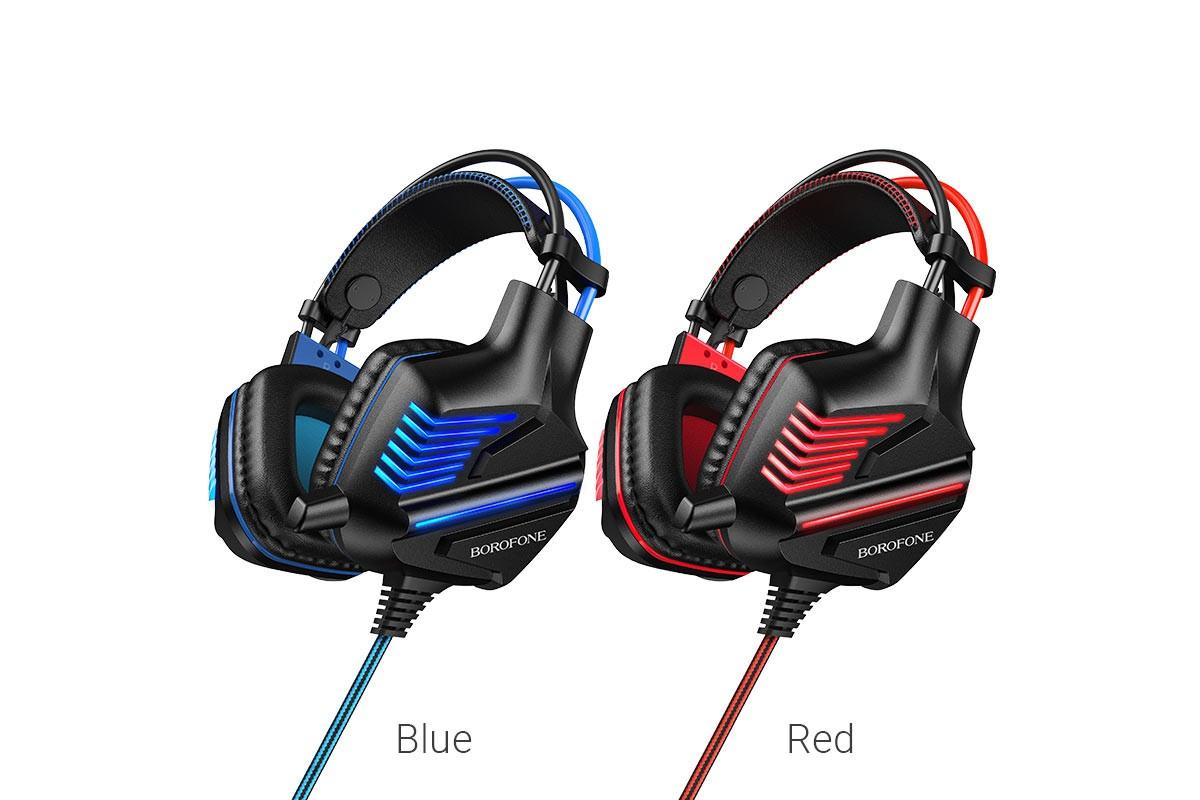 Внешние наушники BO101 BOROFONE Racing gaming headphones красные (игровые с гарнитурой)