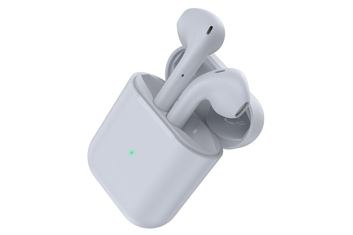 Беспроводные наушники BOROFONE BE42 Feliz TWS wireless earphonesl 3.5мм цвет cерая