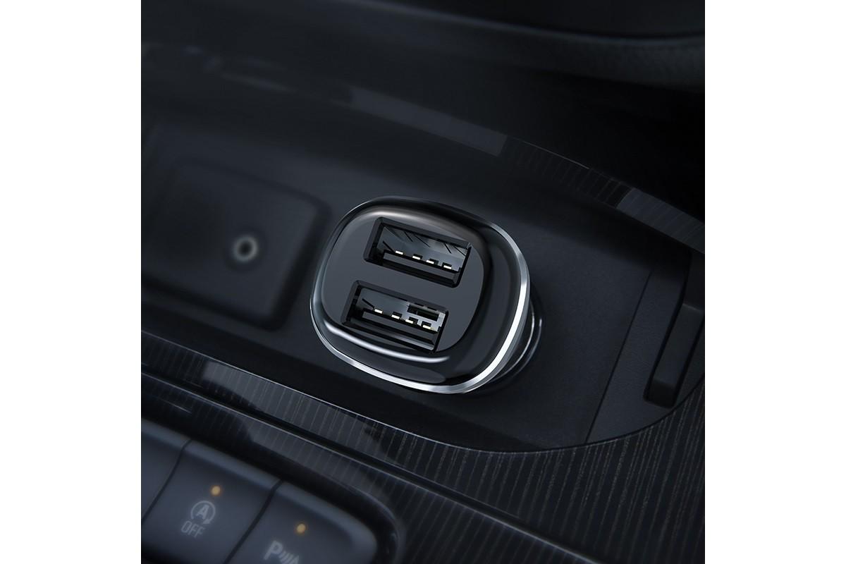 Автомобильное зарядное устройство 2USB BOROFONE BZ13 Extreme dual-port car charger 2400 mAh черный