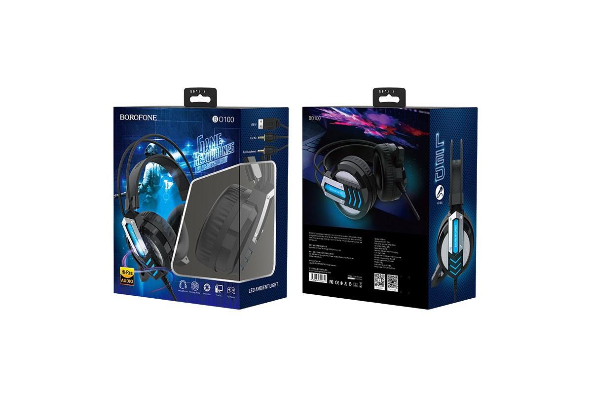 Внешние наушники/гарнитура  BO100 BOROFONE Fun gaming headphones черный (игровые с гарнитурой)