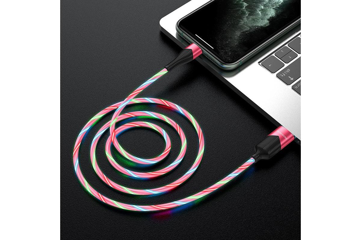 Кабель для iPhone BOROFONE BU19 Streamer charging data cable for Lightning 1м красный