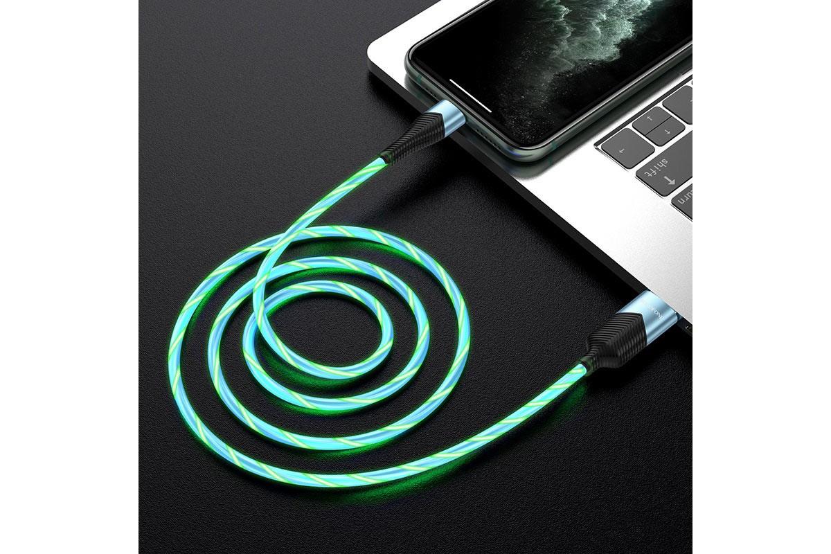 Кабель для iPhone BOROFONE BU19 Streamer charging data cable for Lightning 1м синий
