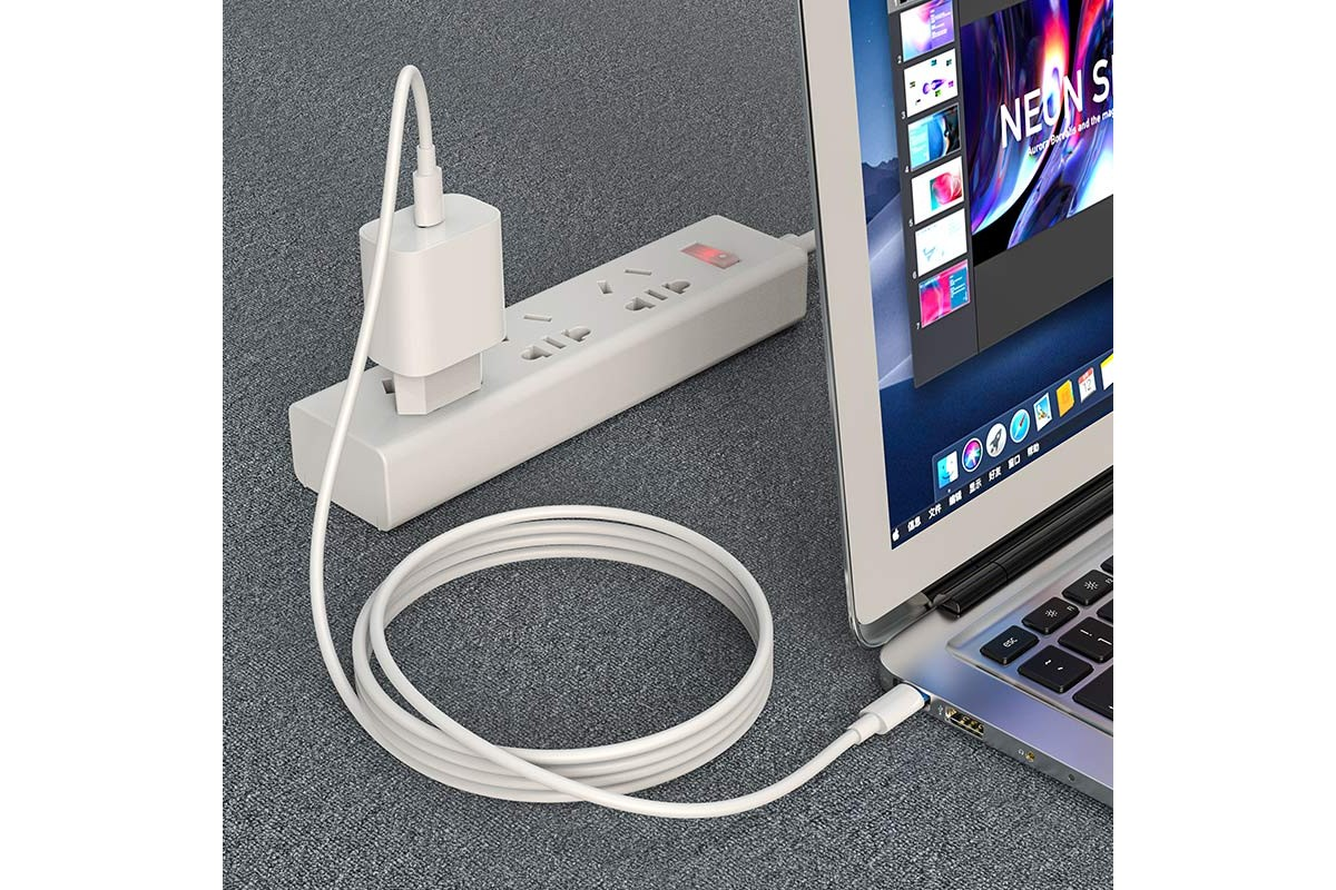 Кабель USB HOCO X51  Type-C to Type-C higt energy 100w (белый) 1 метр