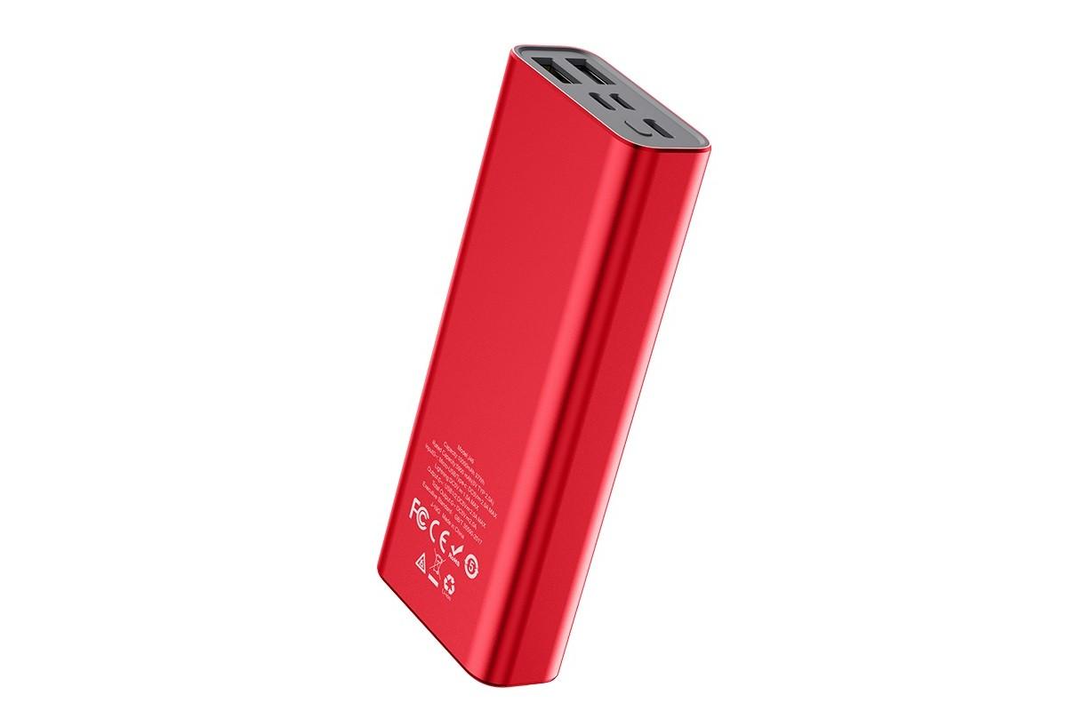 Универсальный дополнительный аккумулятор HOCO  J46 Star ocean mobile power bank красный