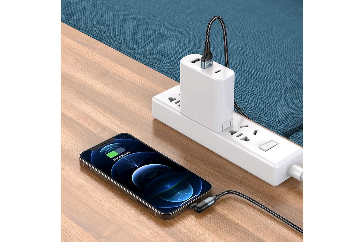 Кабель для iPhone HOCO U100 Orbit charging data cable for Lightning черный