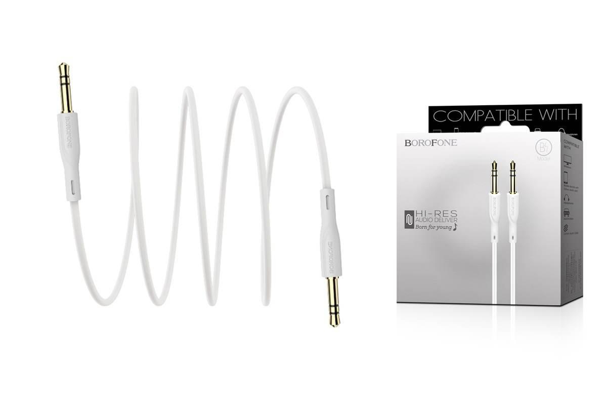 Кабель удлинитель BOROFONE BL1 AUX Audio cable 3.5 1 метр белый