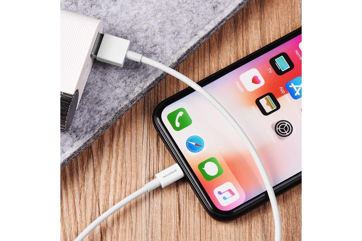 Кабель для iPhone BOROFONE BX3 ProSync lightning cable 1 м белый