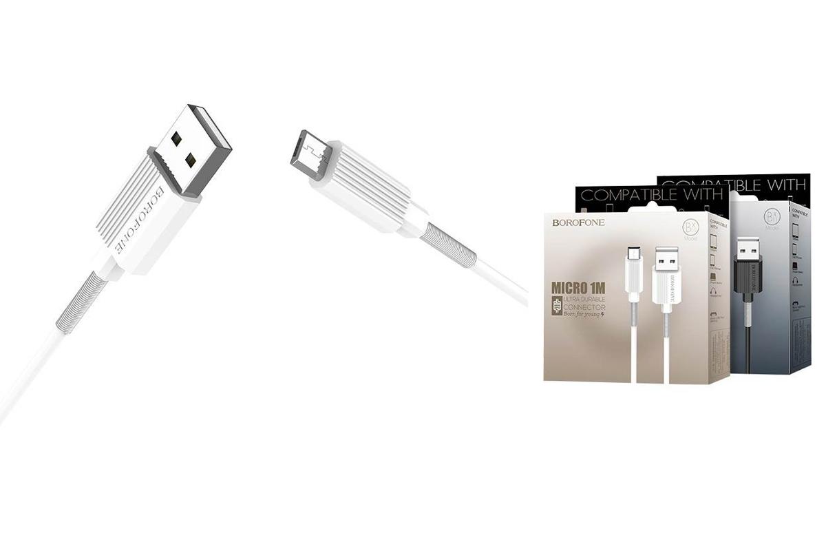Кабель USB micro USB BOROFONE BX11 UJet (белый) 1 метр