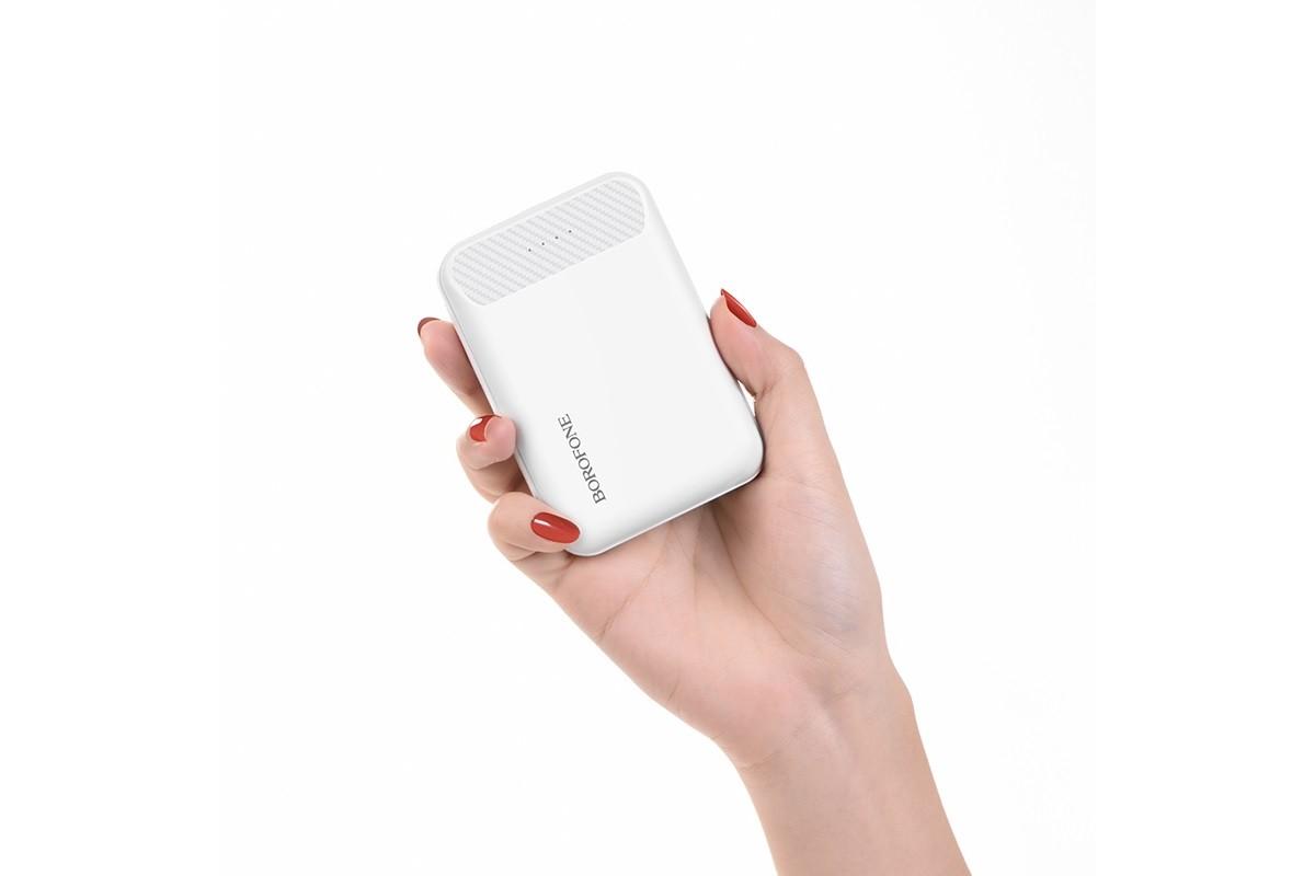 Универсальный дополнительный аккумулятор BOROFONE BT17 RayPower Mini Power Bank 10000 mAh  белый