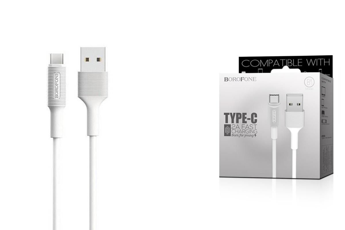 Кабель USB BOROFONE BX1 Type-C cable (белый) 1 метр