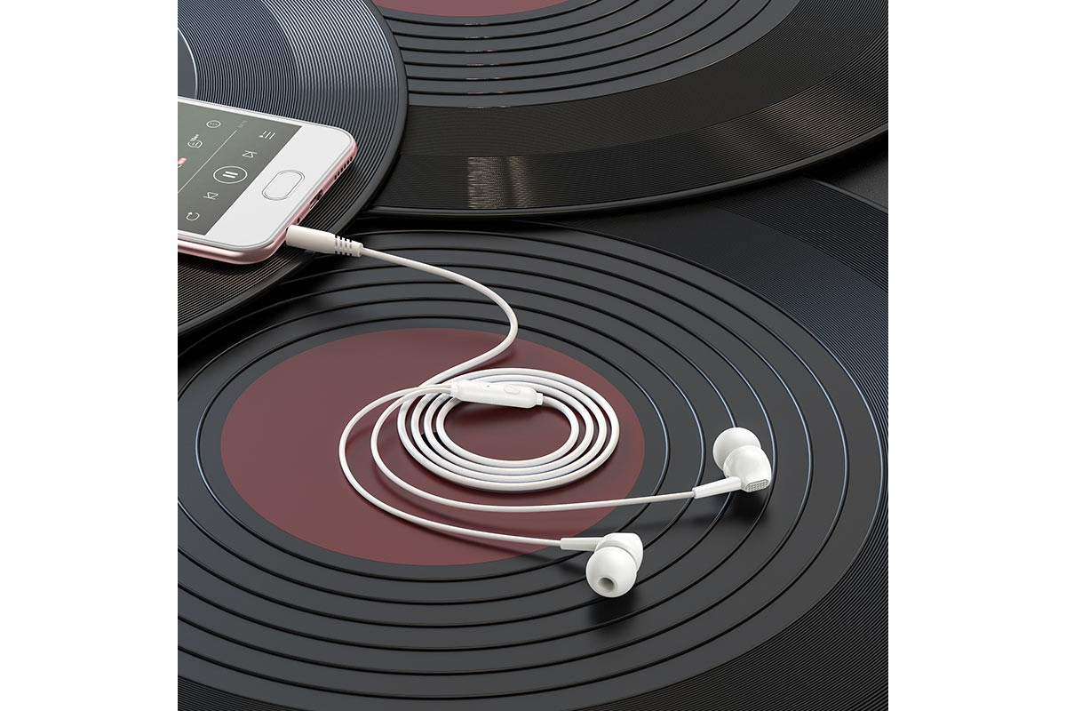 Гарнитура BOROFONE BM51 Hoary universal earphones 3.5мм цвет белая
