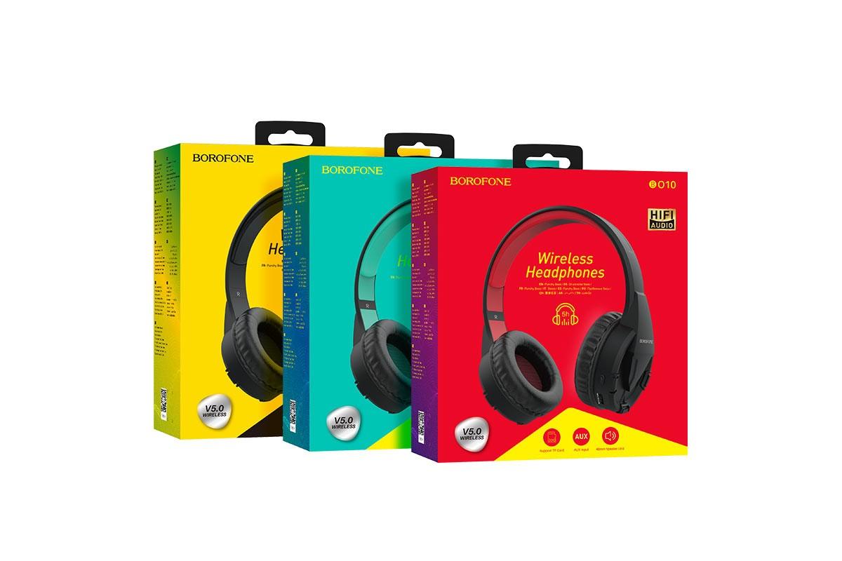 Беспроводные внешние наушники BO10 BOROFONE Precious wireless headset красный