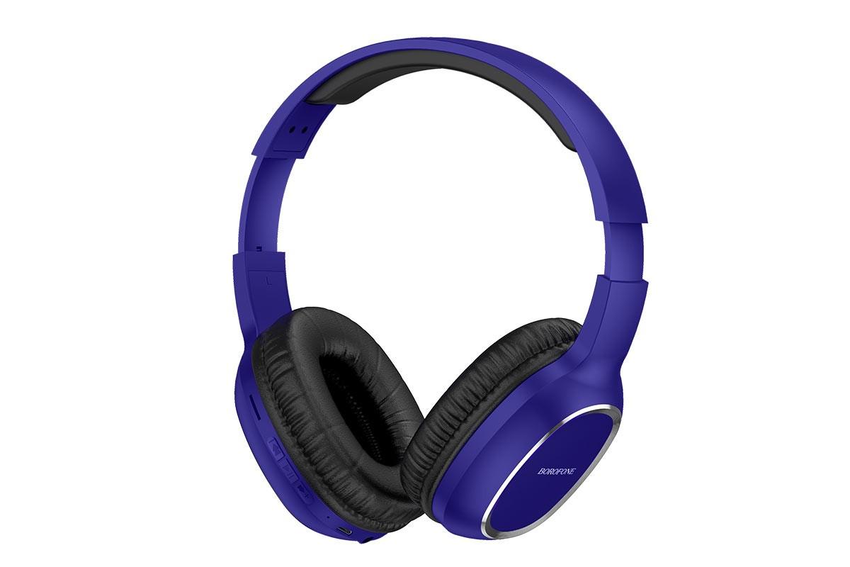 Беспроводные внешние наушники BO9 BOROFONE Pearl wireless headset синий