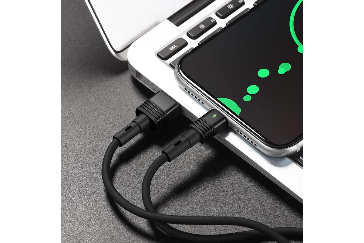 Кабель USB micro USB HOCO U82 Cool grace silicone charging cable for Micro (черный) 1 метр