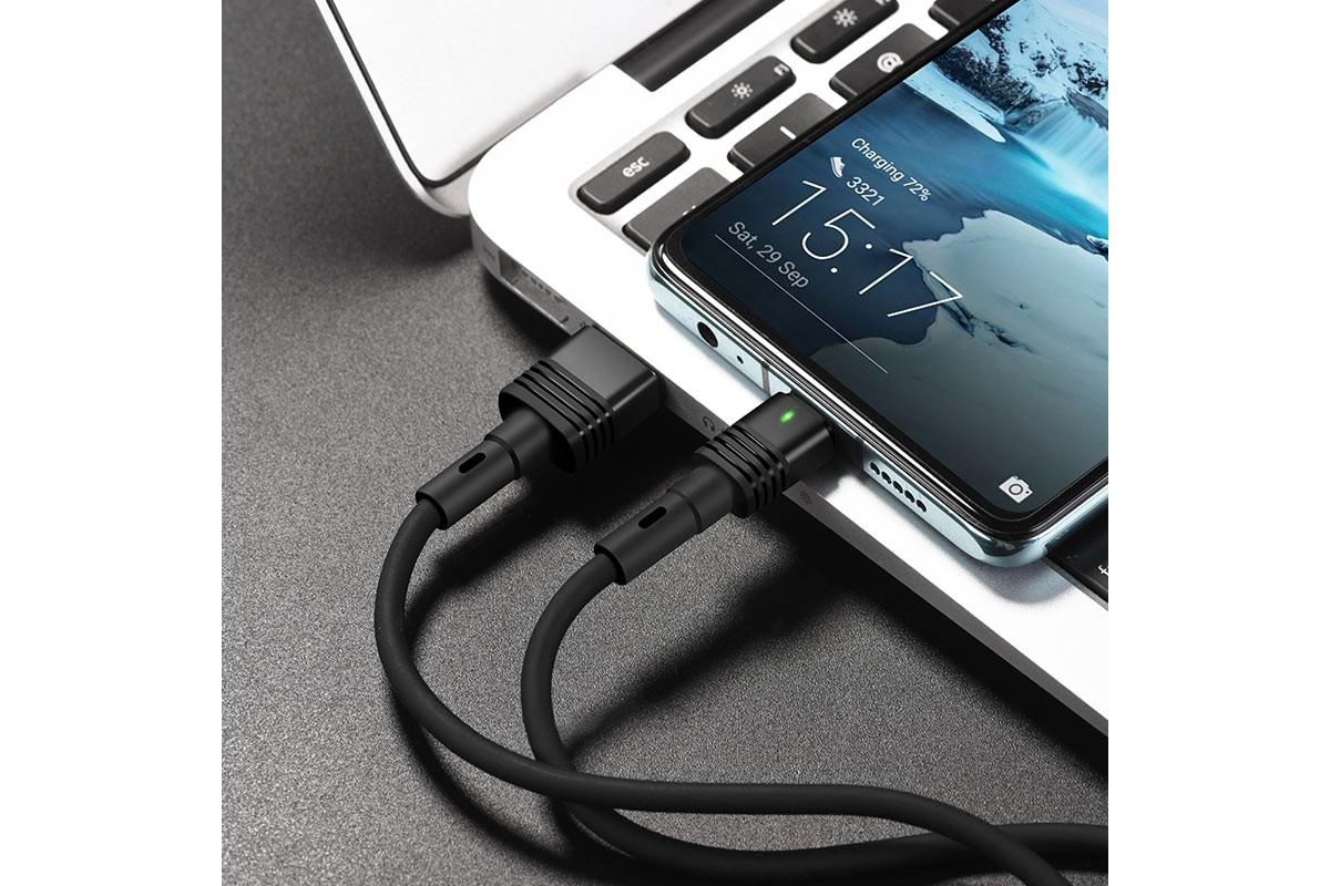 Кабель USB HOCO U82 Cool silicone charging cable for Type-C (черный) 1 метр