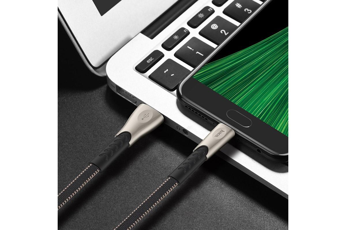 Кабель USB micro USB HOCO U48 Superior speed charging cable (черный) 1 метр