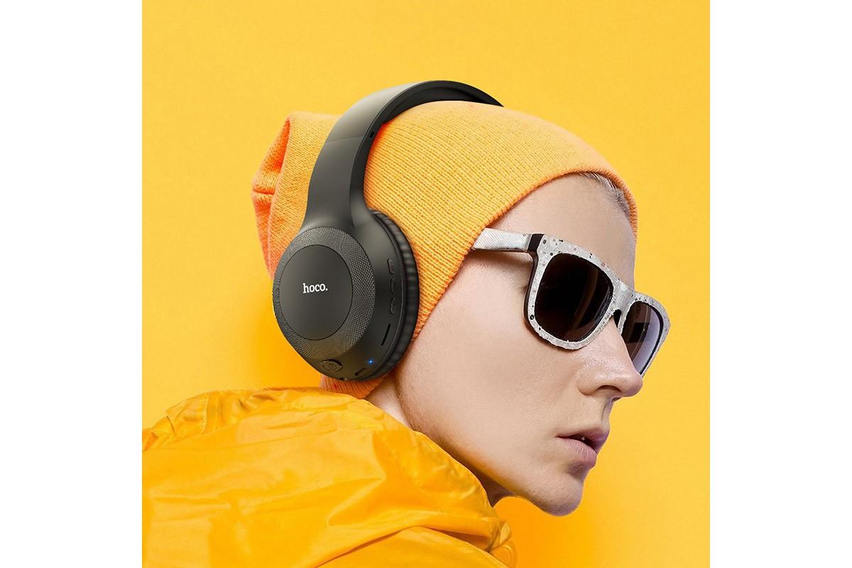Беспроводные внешние наушники HOCO W29 Outstanding wireless headphones черный