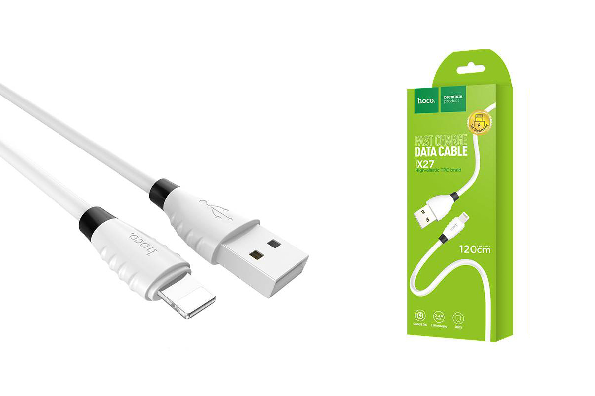 Кабель для iPhone HOCO X27 Excellent charge charging data cable for lightning 1м белый