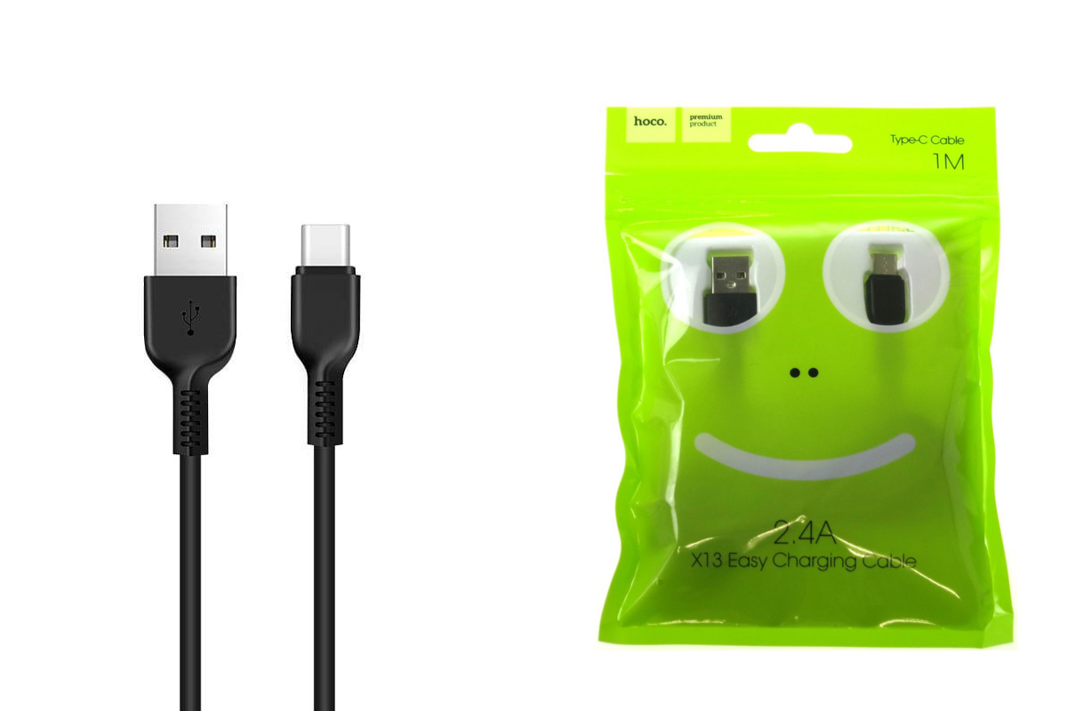Кабель USB HOCO X13 Type-C cable (черный) 1 метр