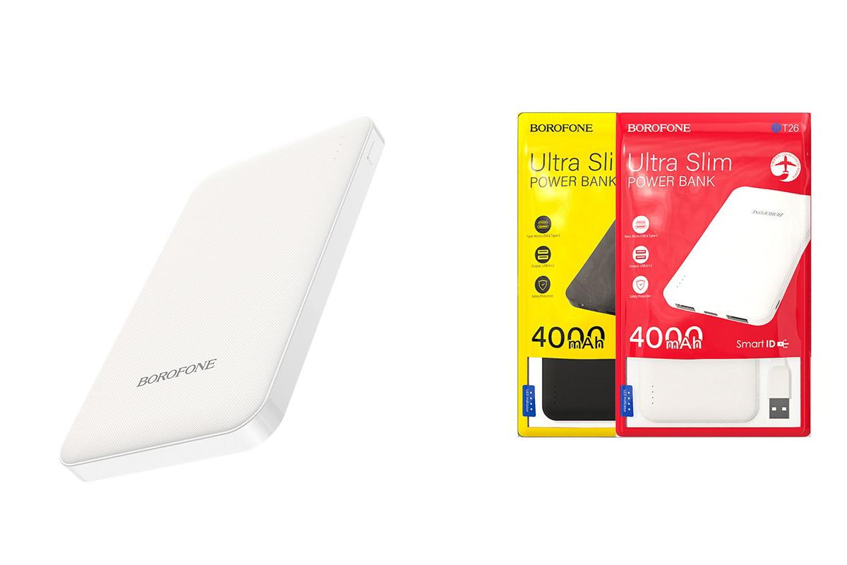 Универсальный дополнительный аккумулятор BT26 Super power mobile power bank(4000mAh) белая