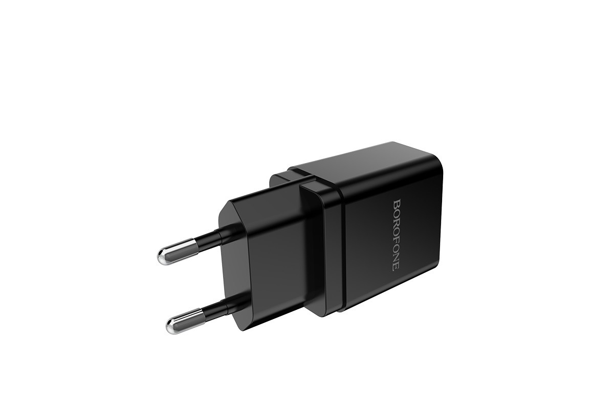 Сетевое зарядное устройство USB 2100mAh + кабель micro USB BOROFONE BA19A Nimble single port charger set черный
