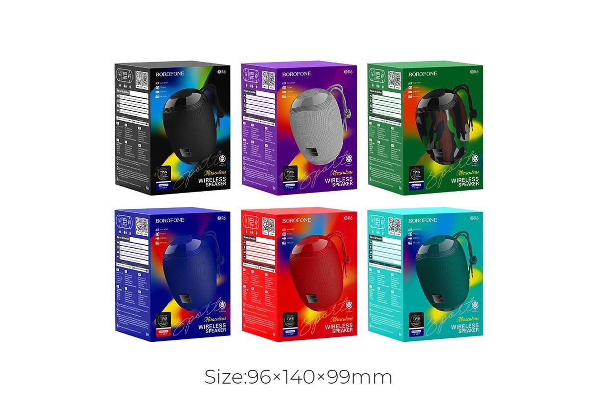 Портативная беспроводная акустика BOROFONE BR6 Miraculous sports wireless speaker  цвет черный