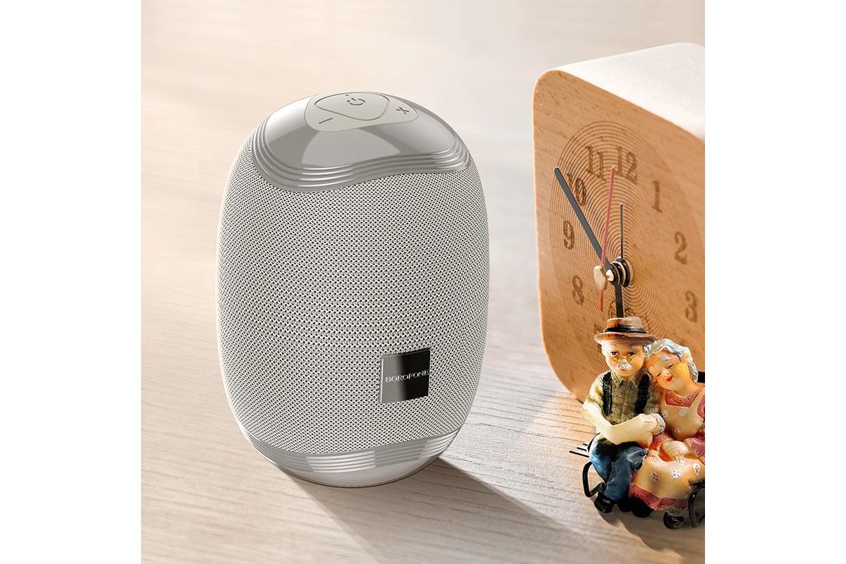 Портативная беспроводная акустика BOROFONE BR6 Miraculous sports wireless speaker  цвет серый
