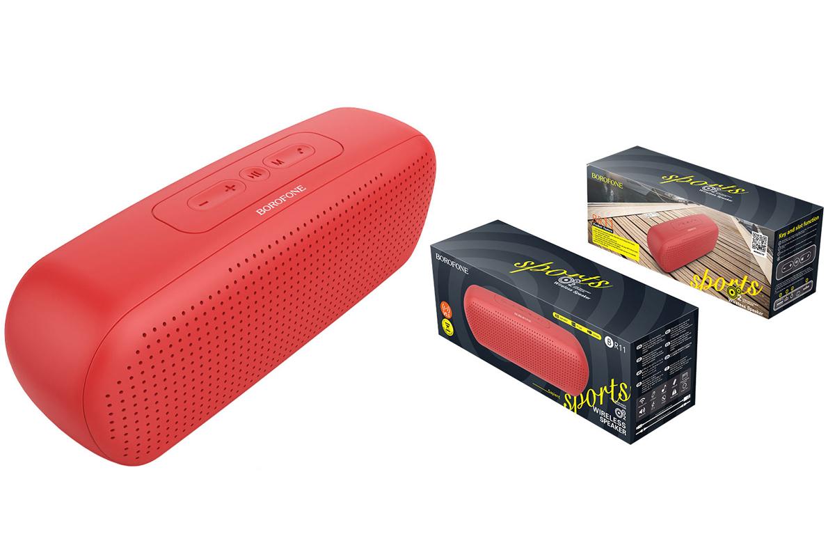 Портативная беспроводная акустика BOROFONE BR11 Sapient sport  цвет красный