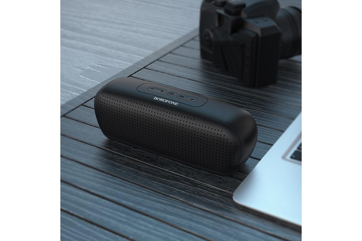 Портативная беспроводная акустика BOROFONE BR11 Sapient sport  цвет черный