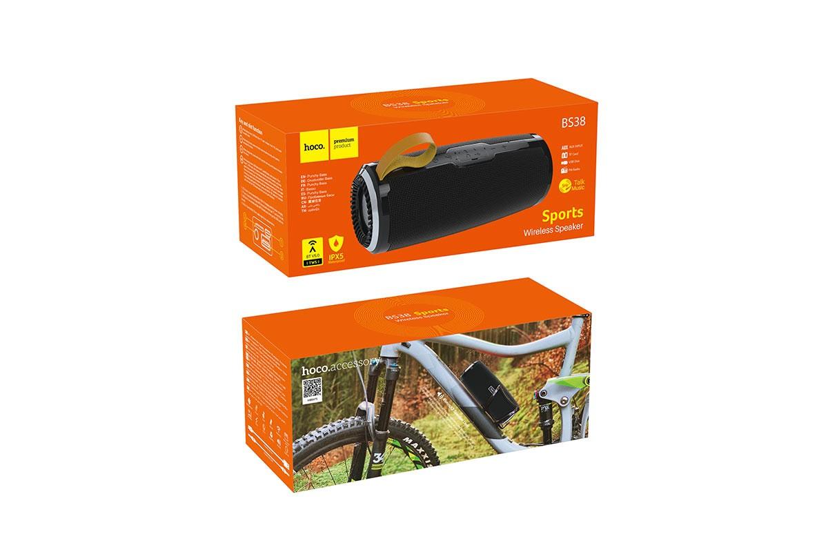 Портативная беспроводная акустика HOCO BS38 Cool Freedom sports sound sports wireless speaker цвет черный