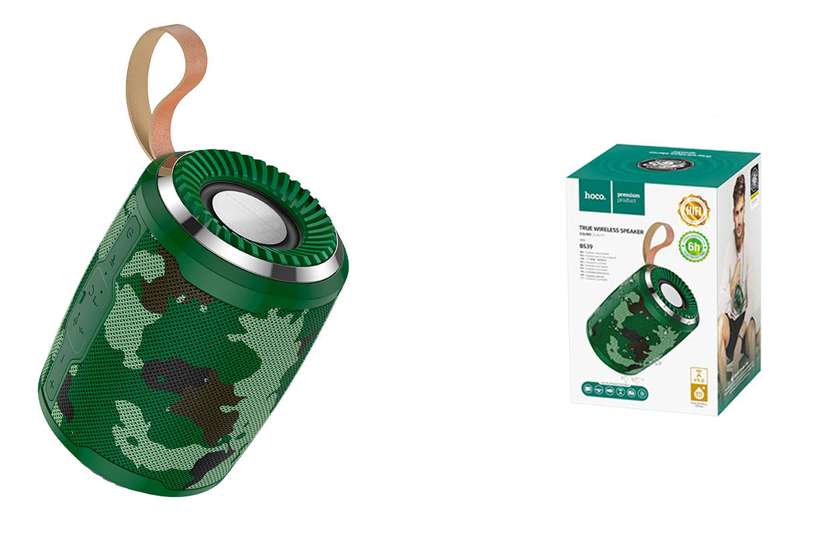 Портативная беспроводная акустика HOCO BS39 Cool sports sound sports wireless speaker цвет камуфляж