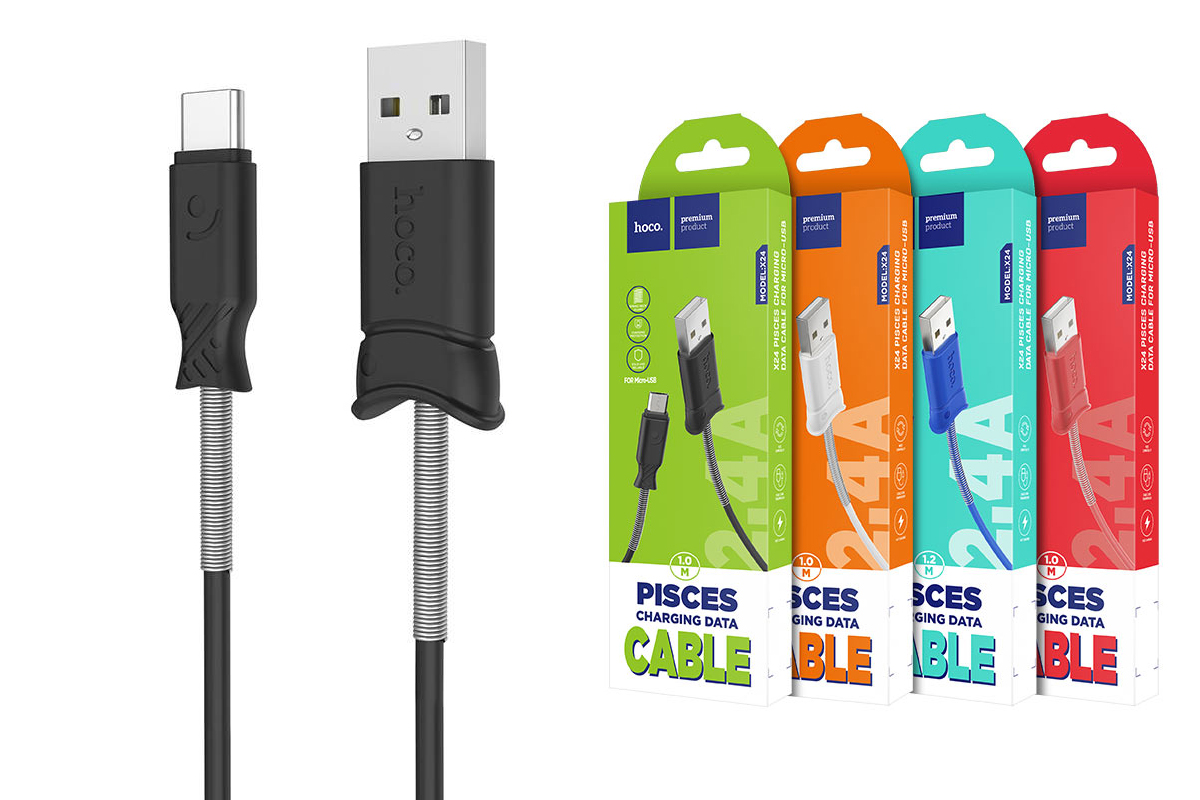 Кабель USB HOCO X24 cable (черный) 1 метр