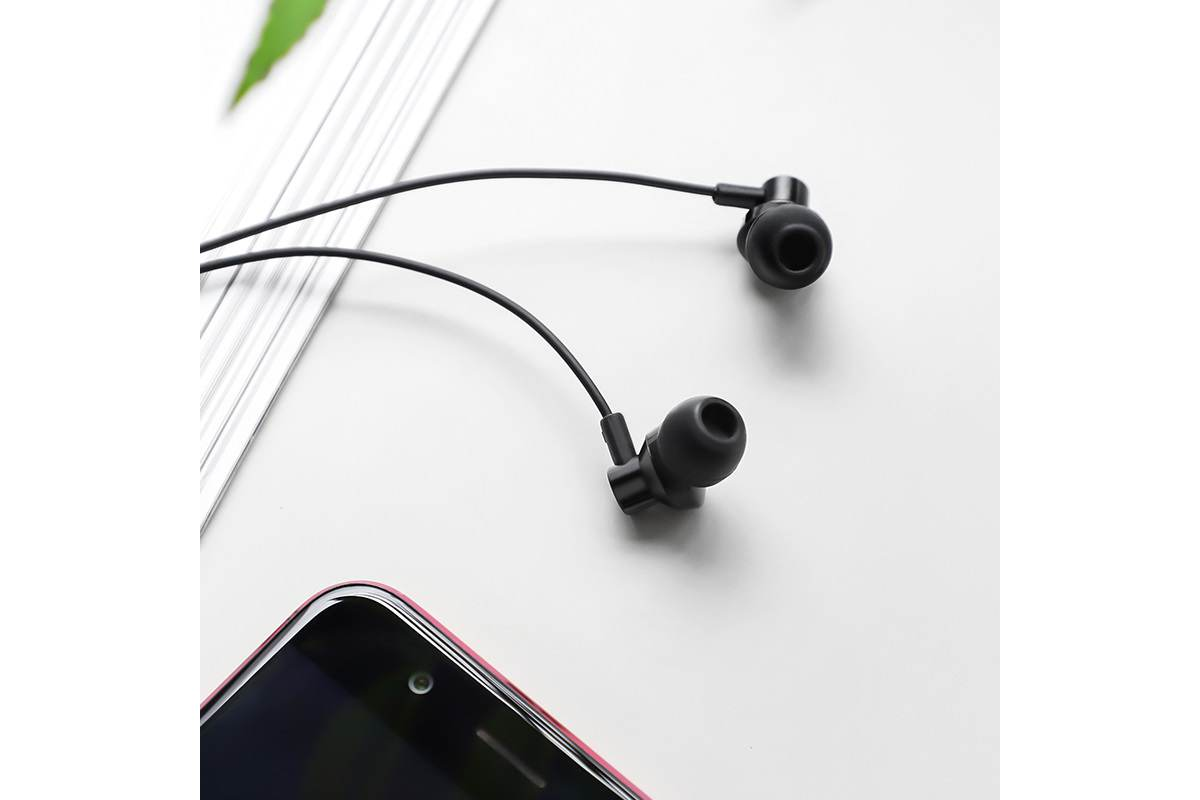 Гарнитура BOROFONE BM35 Farsighted universal earphones 3.5мм цвет черная