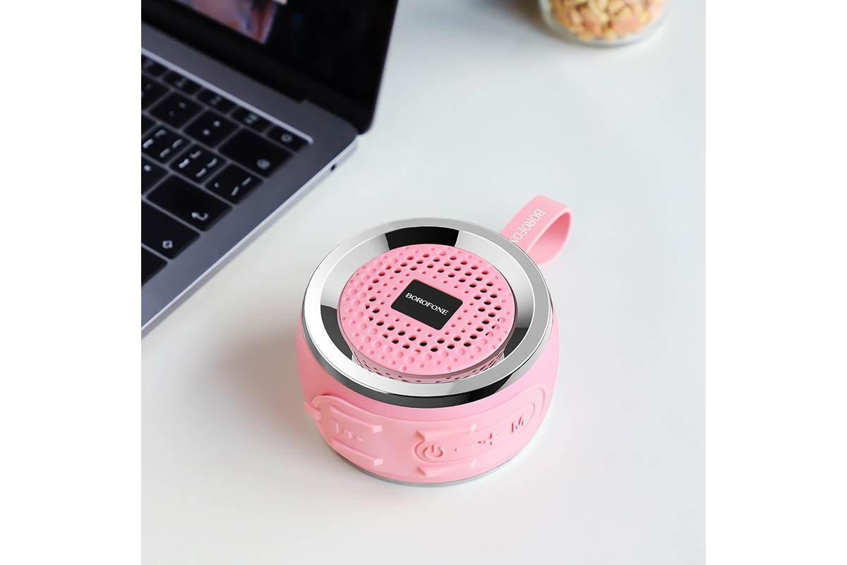 Портативная беспроводная акустика BOROFONE BR2 Aurora sport  цвет розовый