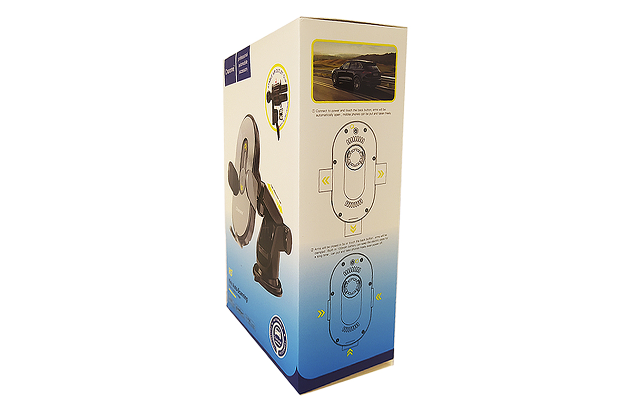 Держатель авто Sharome H3 Kirin Auto-Scanning Wireless charging car holder черный