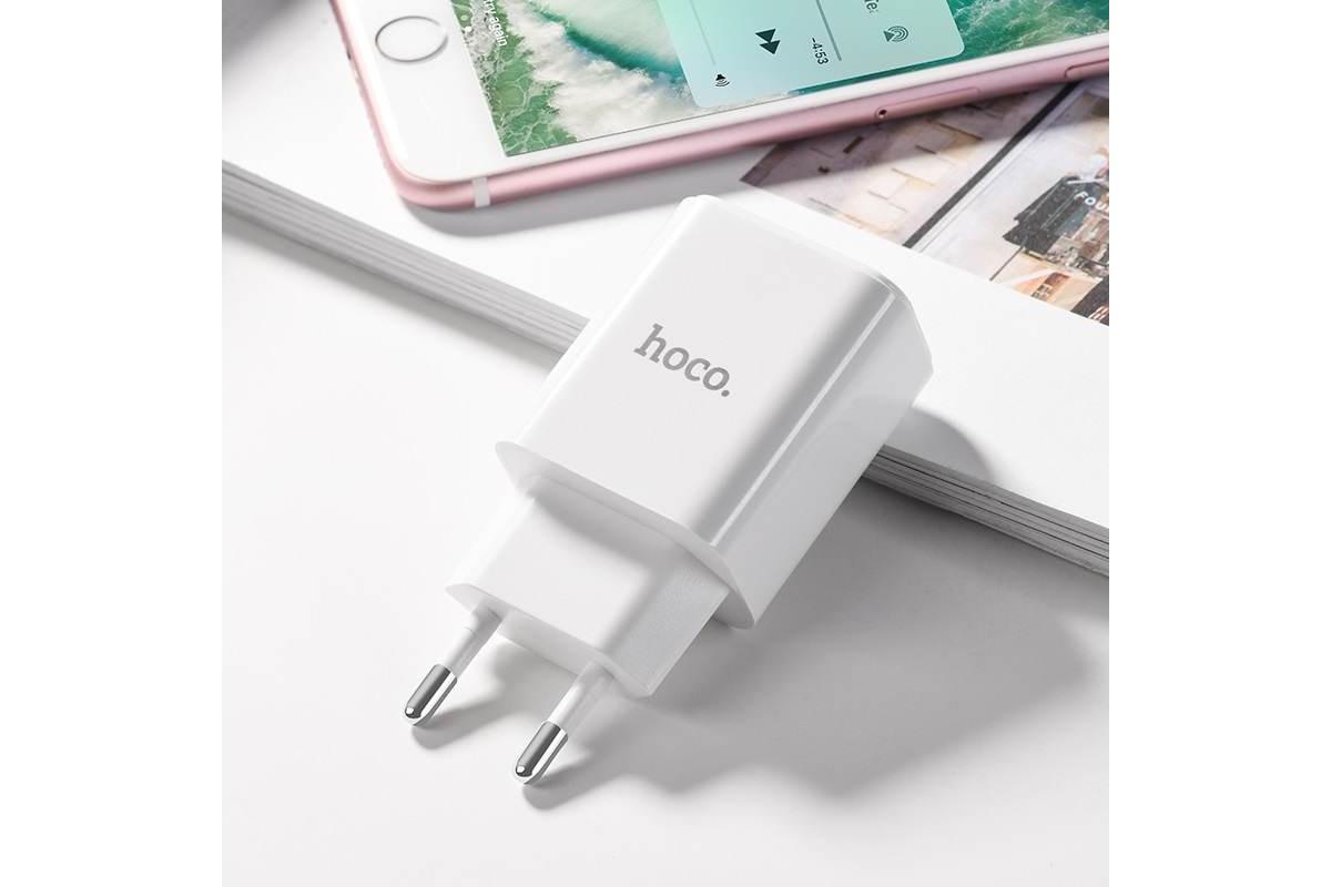 Сетевое зарядное устройство USB + кабель Type-C HOCO C62A Victoria dual port charger set белый