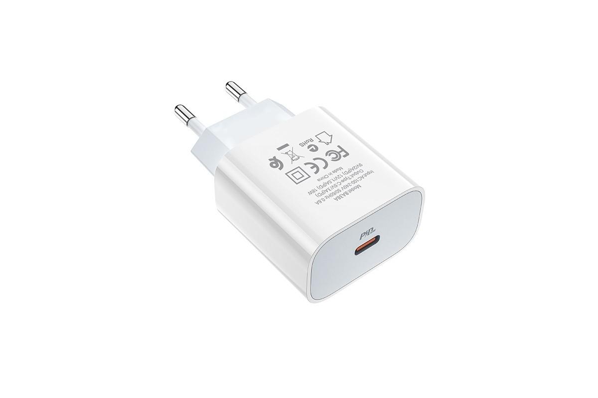 Сетевое зарядное устройство BOROFONE BA38A Speedy charger PD20W port charger белый