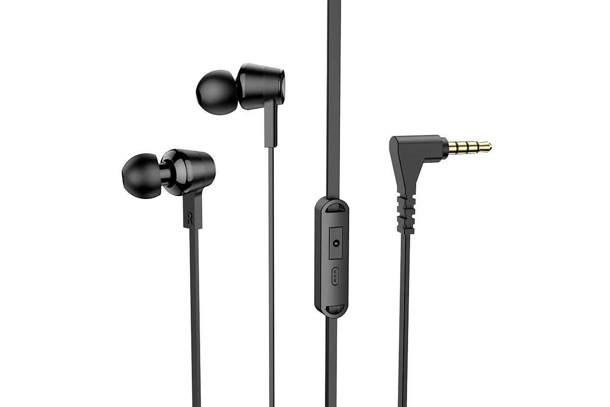 Наушники HOCO M86 Oceanic universal earphones черная