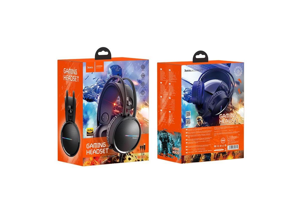 Внешние наушники/гарнитура  HOCO W100 Touring gaming headphones черный