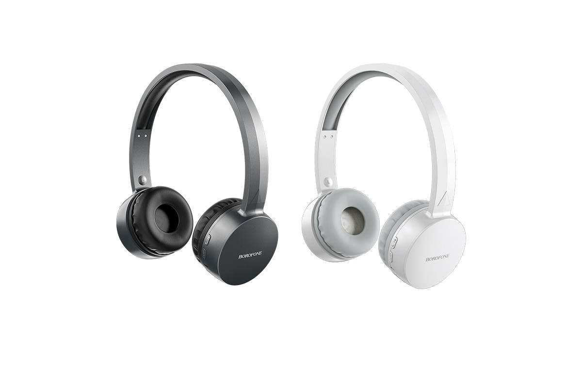 Беспроводные внешние наушники BO2 BOROFONE Fine move wireless headset белый