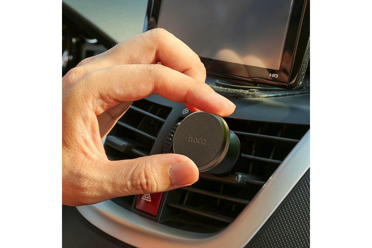 Держатель авто HOCO CA81 в дефлектор обдува черный