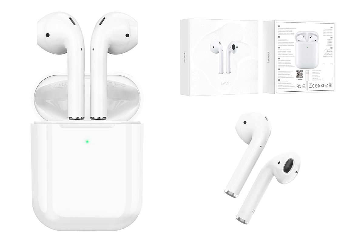Беспроводные наушники EW02 Original series apple wireless  HOCO белые