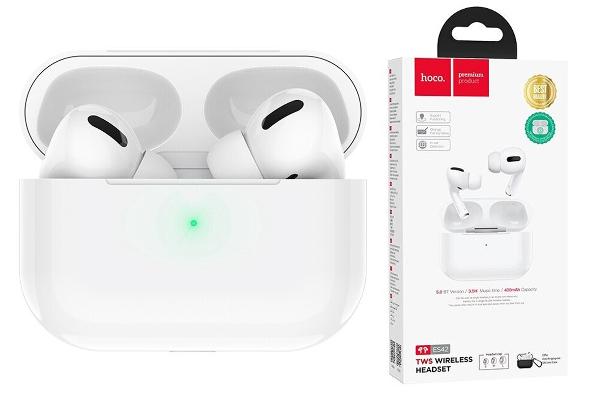 Беспроводные наушники ES42 Original series Pro TWS wireless headset  HOCO белая